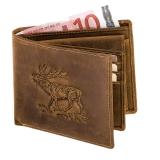 Geldbörse Antikleder Hirsch Querformat