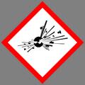 GHS01: Explodierende Bombe; Gefahr Unstabil, Explosionsgefahr